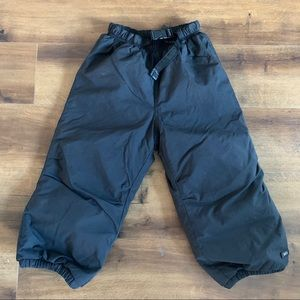 REI 4T black snow ski pants thick warm